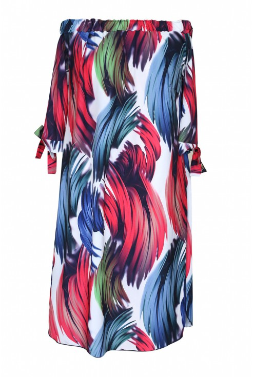 sukienka hiszpanka xxl wzór kolor