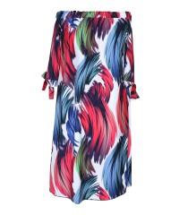 Sukienka hiszpanka w kolorowe wzory - MARITA COLORS