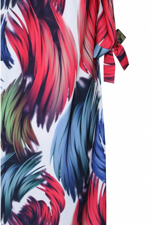 detal sukienki kolorowej xxl