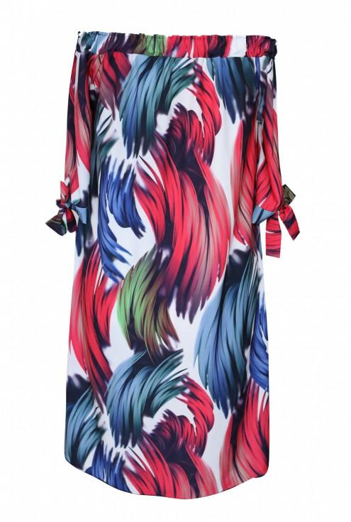 tył sukienki kolorowej xxl