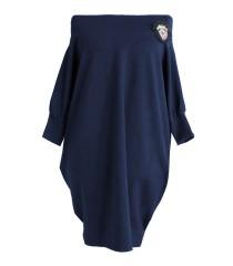 Granatowa tunika/sukienka hiszpanka - SANDRA