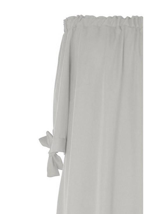 Jasnoszara sukienka hiszpanka xxl