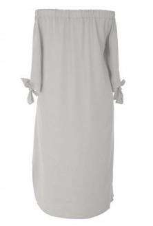 Jasnoszara sukienka hiszpanka plus size tył
