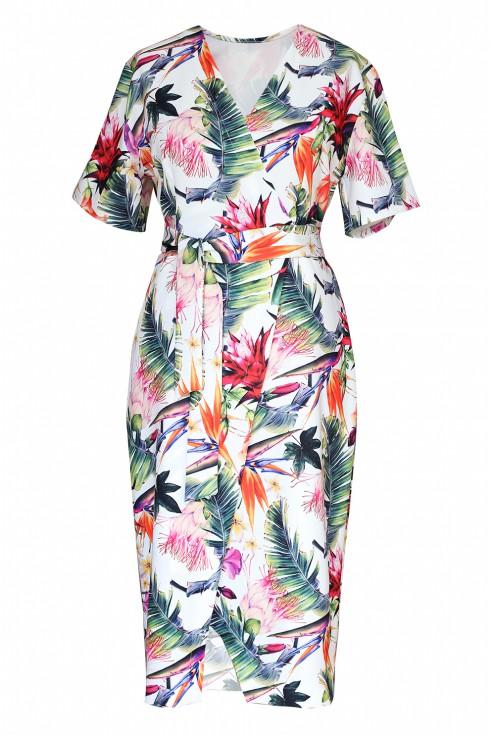 sukienka kopertowa w kwiaty venezia