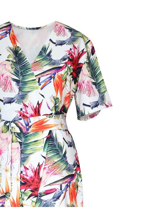 bok sukienki w kwiaty venezia