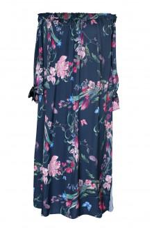 granatowa sukienka w kwiaty marita navy