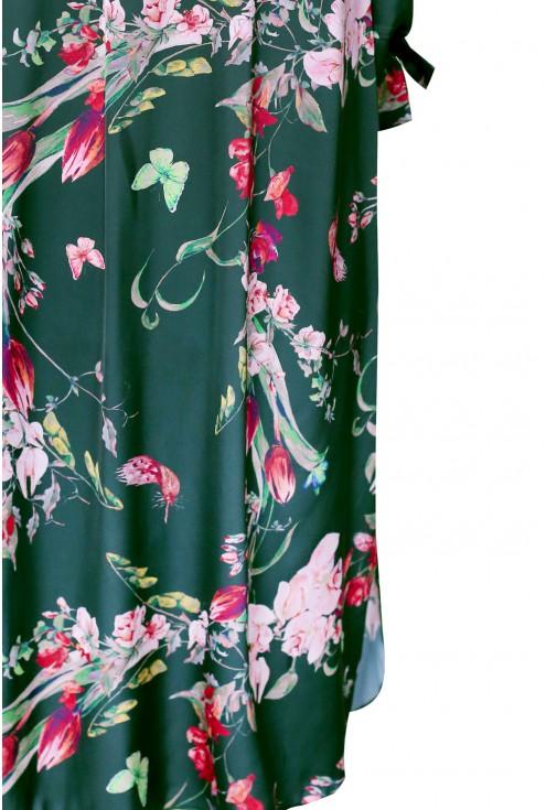 Zielona sukienka plus size w stylu hiszpańskim