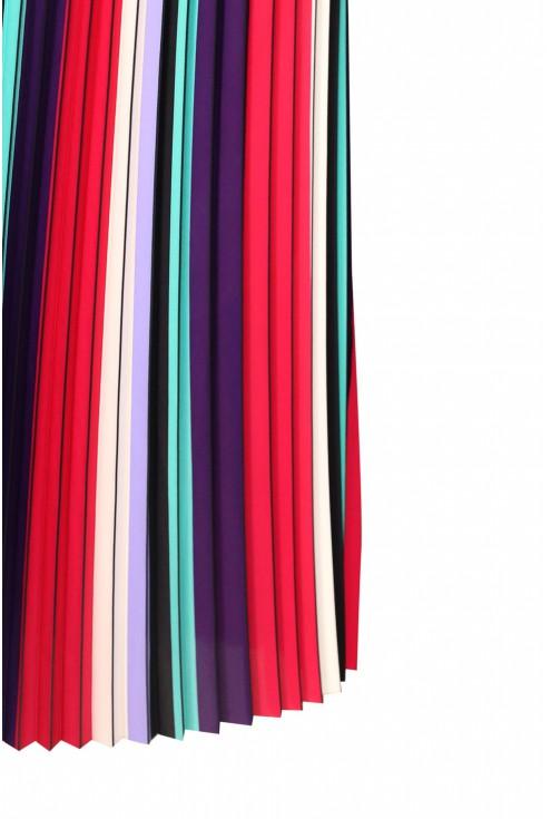 Plisowana kolorowa spódnica w rozmiarach plus size dla kobiet.