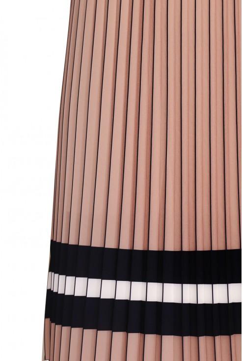 Spódnica w kolorze cappuccino w sklepie XL-ka.pl