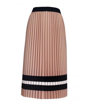 Spódnica plisowana kolor cappuccino - KAREN