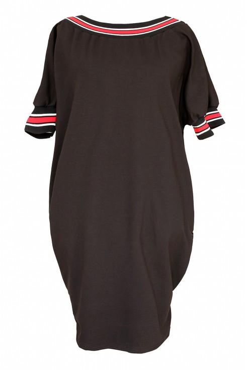 Czarna sukienka ze ściągaczem w sklepie XL-ka.pl