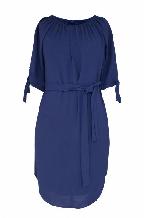 Sukienka w kolorze granatowym w dużych rozmiarach dla kobiet