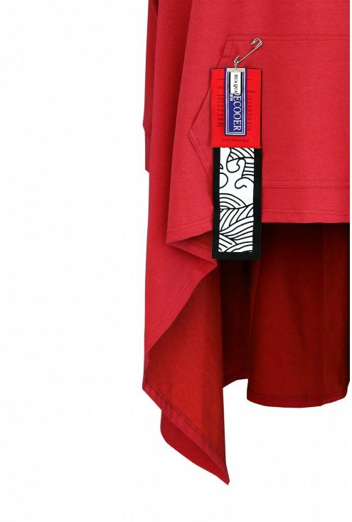 czerwona bluza xxl