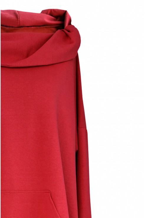 czerwona bluza plus size