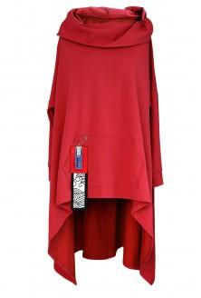 czerwona bluza xxl długa