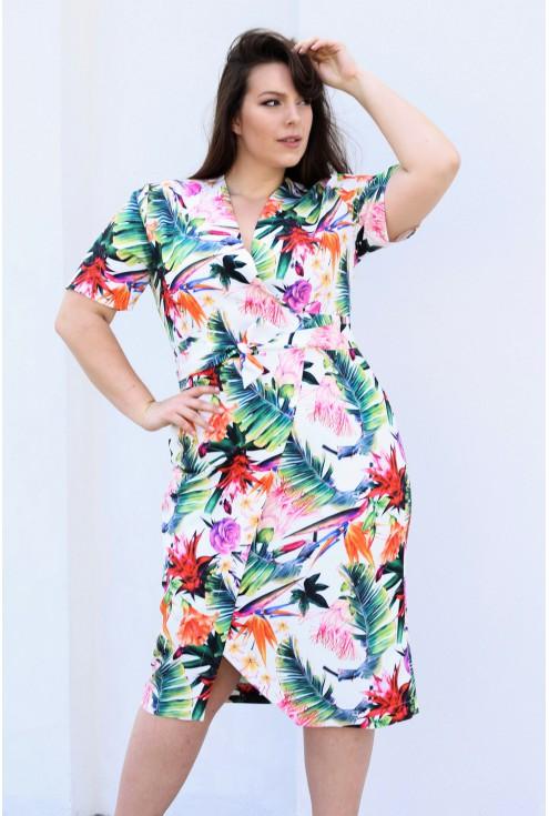 sukienka_wiązana_xxl_kwiaty