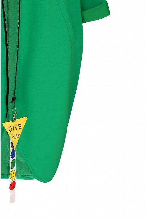 zielona bluza plus size