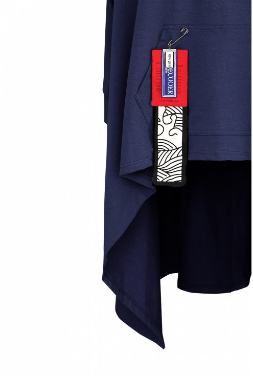 granatowa bluza detal plus size