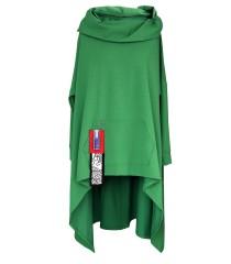 Jasnozielona długa bluza z kapturem KORN
