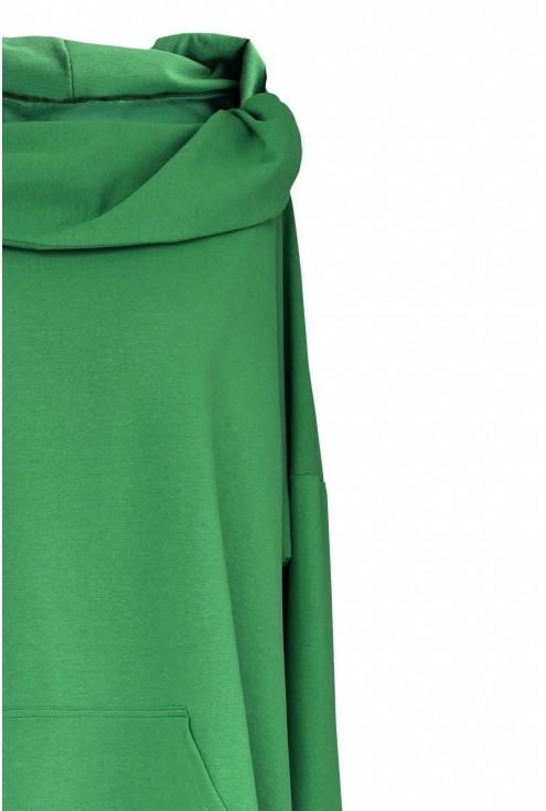 długa zielona bluza xxl