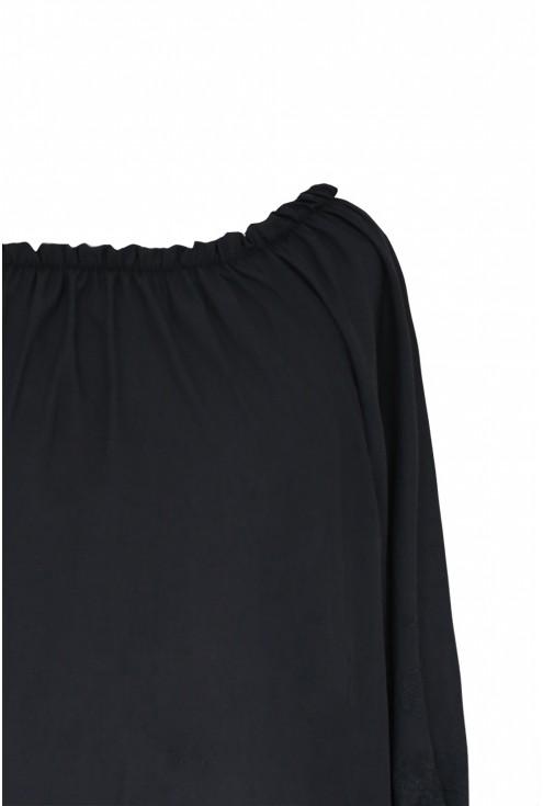 czarna bluzka na lato hiszpanka