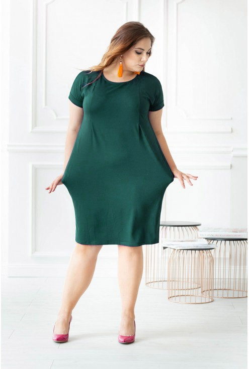 zielona sukienka plus size