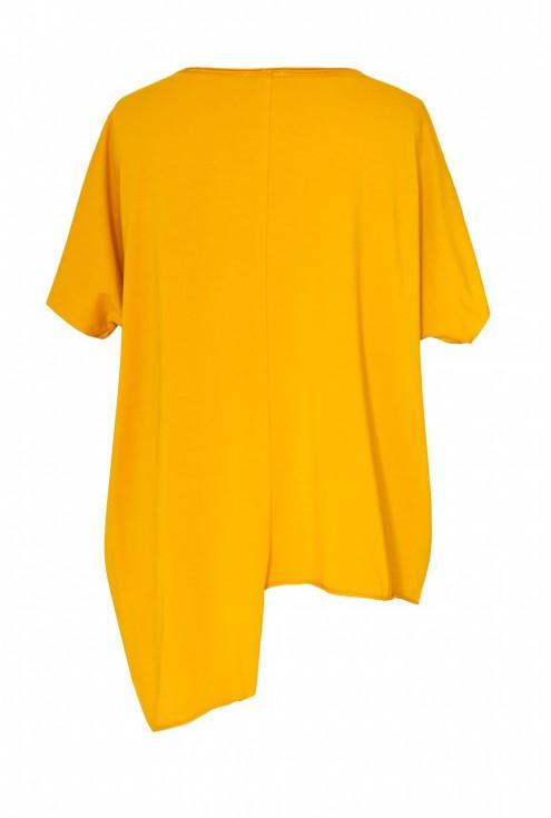 Miodowa asymetryczna bluzka JULIA