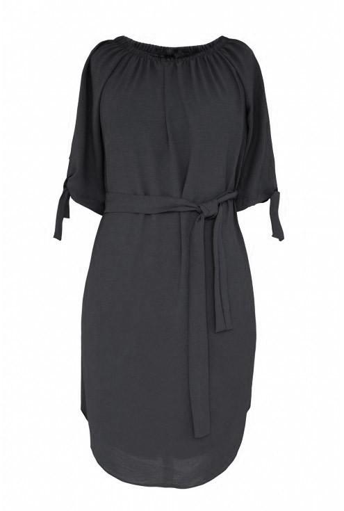 Czarna sukienka hiszpanka Elena - przód