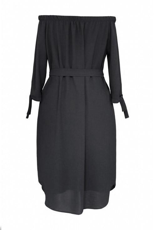 Czarna sukienka hiszpanka Elena - tył