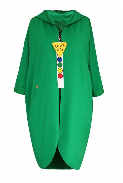 Zielona długa bluza LARA