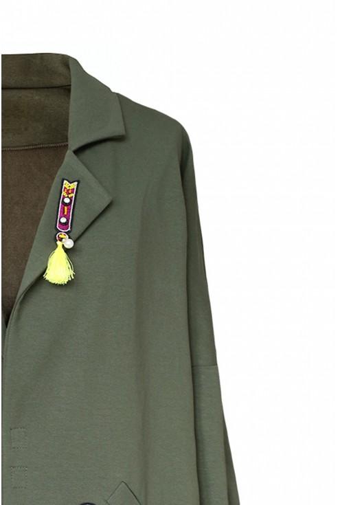 płaszcz xxl khaki plus size
