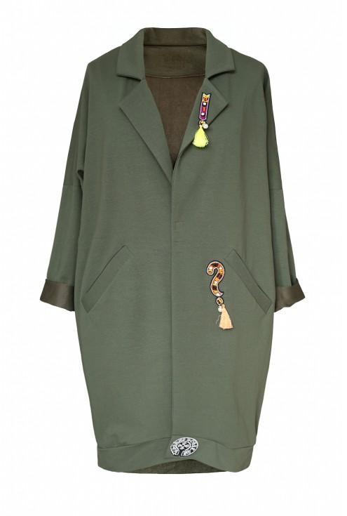 dresowy płaszcz xxl
