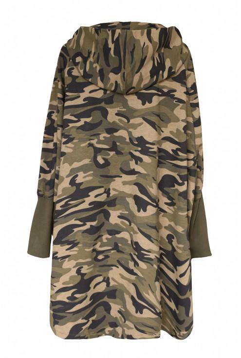 Bluza oversize z kapturem - moro - BETH - tył