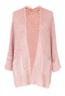 jasny pudrowy sweter oversize