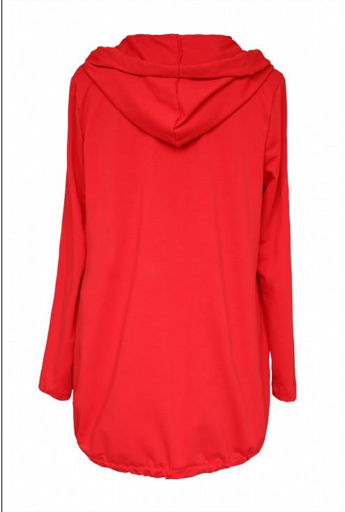 Czerwona bluza z przywieszką - DANIELLE