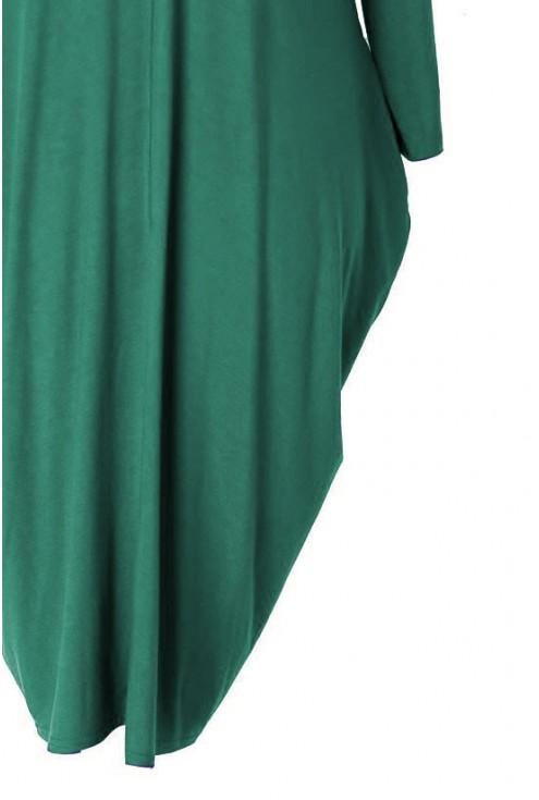 zielona sukienka dzianinowa xxl