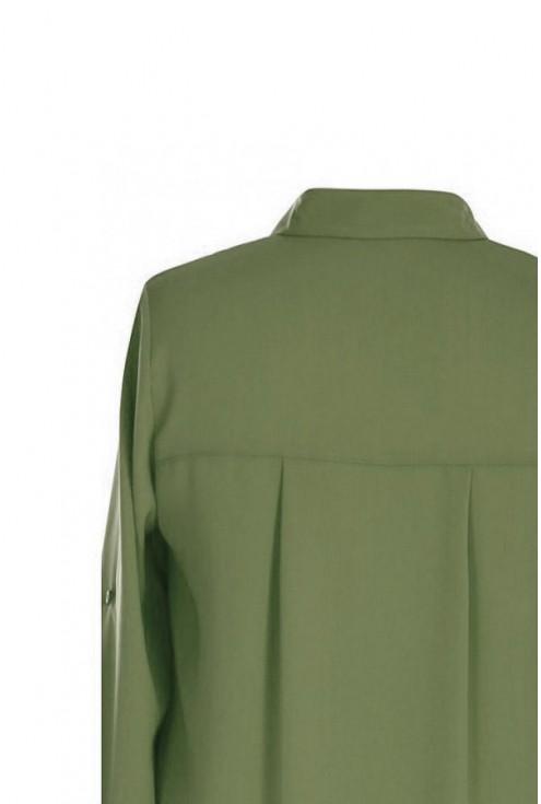 Khaki długa koszula damska duże rozmiary plus size