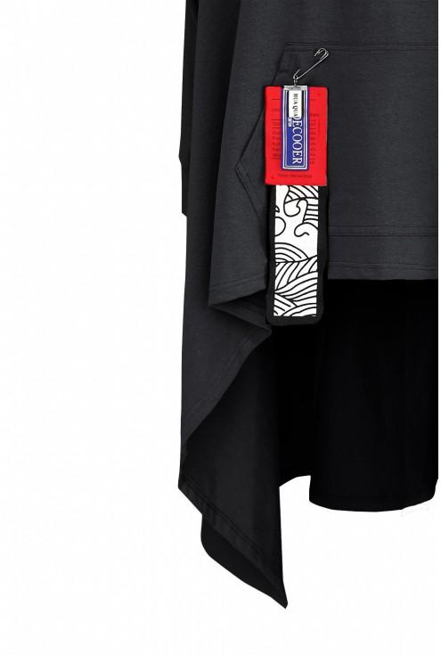 Czarna długa bluza plus size