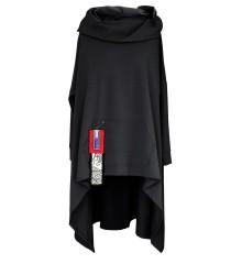 Czarna długa bluza z kapturem KORN