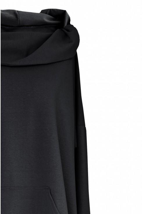 Czarna długa bluza duże rozmiary