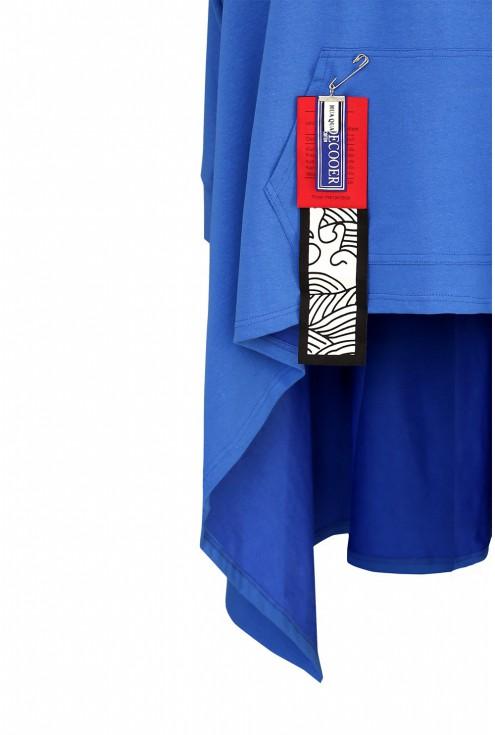 Chabrowa długa bluza detal plus size
