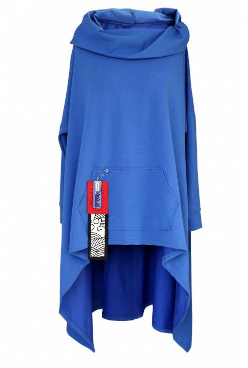 Chabrowa długa bluza z kapturem xxl