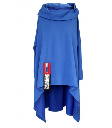 Chabrowa długa bluza z kapturem KORN