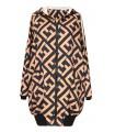 Czarno-camelowa bluza z geometrycznym wzorem - F-VIRTO