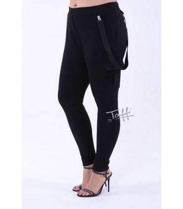 Czarne spodnie dresowe z kieszeniami - LOVE