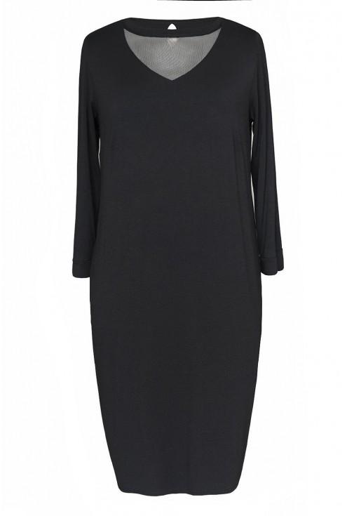 czarna sukienka z siateczką xxl