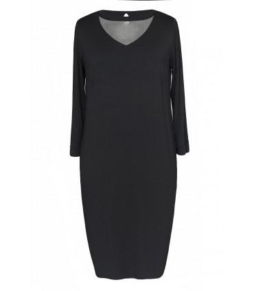 Czarna sukienka z siateczką w dekolcie BETTY