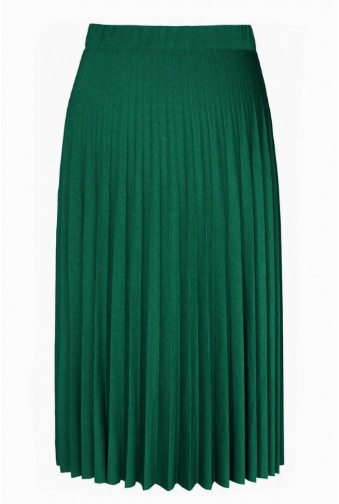 Zielona spódnica plisowana - przód