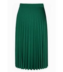 Zielona błyszcząca spódnica plisowana - RONI