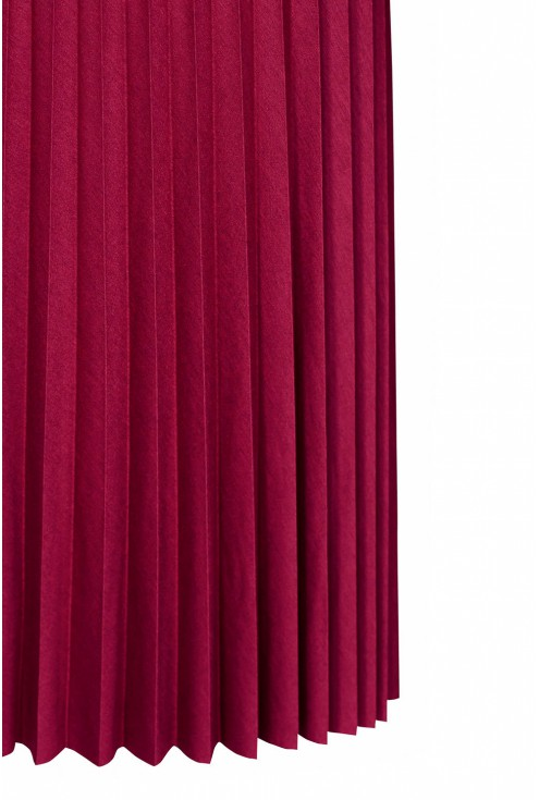 Bordowa spódnica plisowana - dół